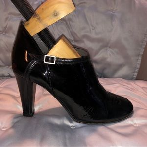 Theory Patent Leather Booties